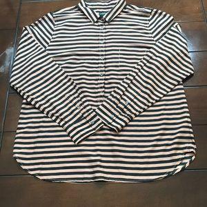 J. Crew Half Button Shirt